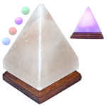 Himalayan Salt LED Lamp - Multi-colour Pyramid with USB