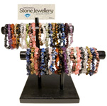 Gemstone Chip Bracelet Display - Assorted (39)