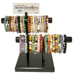 Gemstone Nugget Bracelet Display - Assorted (39)