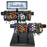 Gemstone Shamballa Bracelet Display (34/display)