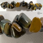 Gemstone Chip Bracelet - Blue Tiger Eye (3)