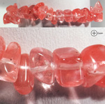 Gemstone Chip Bracelet - Strawberry Quartz (3)