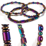 Magnetic Hematite Rainbow Bracelets - Single Strand Assorted (6)