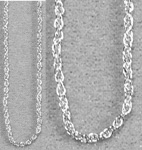 Necklace Chain - Twist (20 inch) Silver Plated (10)