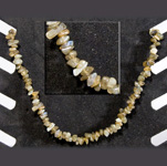 Gemstone Chip Necklace (18 inch) - Labradorite (3)