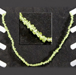 Gemstone Chip Necklace (18 inch) - Peridot