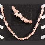 Gemstone Chip Necklace (18 inch) - Rose Quartz (3)