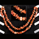 Gemstone Chip Necklace (36 inch) - Brecciated Jasper