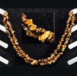 Gemstone Chip Necklace (36 inch) - Gold Tiger Eye