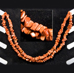 Gemstone Chip Necklace (36 inch) - Goldstone