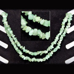 Gemstone Chip Necklace (36 inch) - Green Aventurine