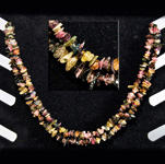 Gemstone Chip Necklace (36 inch) - Multi Tourmaline