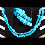 Gemstone Chip Necklace (36 inch) - Turquoise Howlite