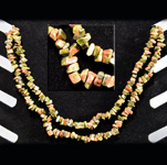 Gemstone Chip Necklace (36 inch) - Unakite