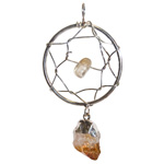 Dream Catcher Pendant - Citrine