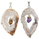Agate Geode Slice Pendant with Drop Point (3)