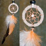 Dreamcatcher Pendants - Leather Wrapped with Feather (2)