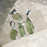 Moldavite Pendant - Large (Polished)