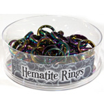 Hematite Rainbow Ring Display (48/display)