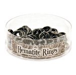 Stone Ring Display - Hematite (48/display)