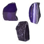 Agate Decorative Stand-ups - Round Back - Purple