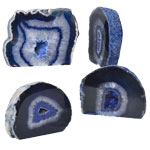 Agate Decorative Stand-ups - Thick - Blue