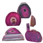 Agate Decorative Stand-ups - Thick - Pink