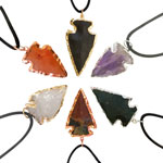 Plated Arrowhead Pendants - Assorted (18)