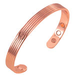 Magnetic Copper Bangle - 5 Strand