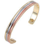 Magnetic Copper Bangle - Tri-tone