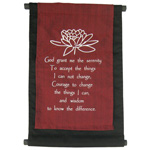 Mini Banner - Lotus Serenity Prayer