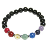 Chakra Gemstone Bracelet - Round with Black Onyx