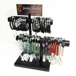 Bracelet Bar Display - Hamsa and Chakra Assorted (36/Display)