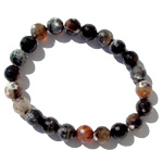 Gemstone Faceted Bead Bracelet - Natural Agate