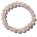Gemstone Faceted Bead Bracelet - Rose Quartz