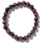 Gemstone Faceted Bead Bracelet - Red Tigereye
