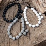 Lava Bead Bracelet - Assorted (12)
