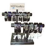 Bracelet Bar Display - Buddha Charm with Onyx and Assorted Gemstones (39/Display)