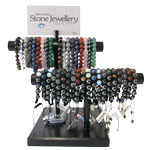 Bracelet Bar Display - Gemstone Round and Shamballa Assorted (38/Display)