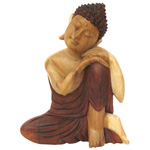 Dreaming Buddha - Suar Wood