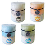 Zenature Elemental Pillar Candle - Assorted (4)