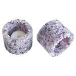 Chip Stone Candle Holder - Amethyst