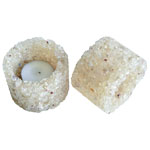 Chip Stone Candle Holder - Citrine Natural