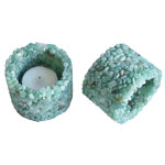 Chip Stone Candle Holder - Green Quartz