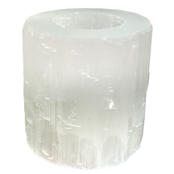 Selenite Polished Candle Holder Wholesale Candles Canada I Home Decor