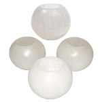 Selenite Candle Holder - Sphere