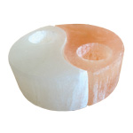 Selenite Candle Holder - Yin Yang