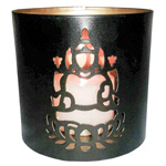 Tin Candle Holder - Ganesh
