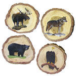 Wood Coasters - Canadian Animals (Set of 4)