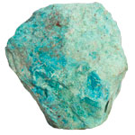 Decorator Mineral Cut Base - Chrysocolla - Large